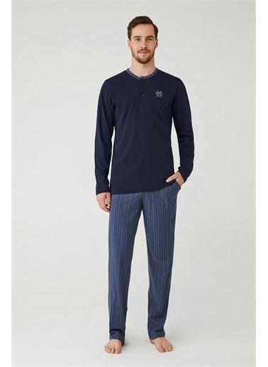 Mod Collection Erkek Patlı Pijama Takım Lacivert